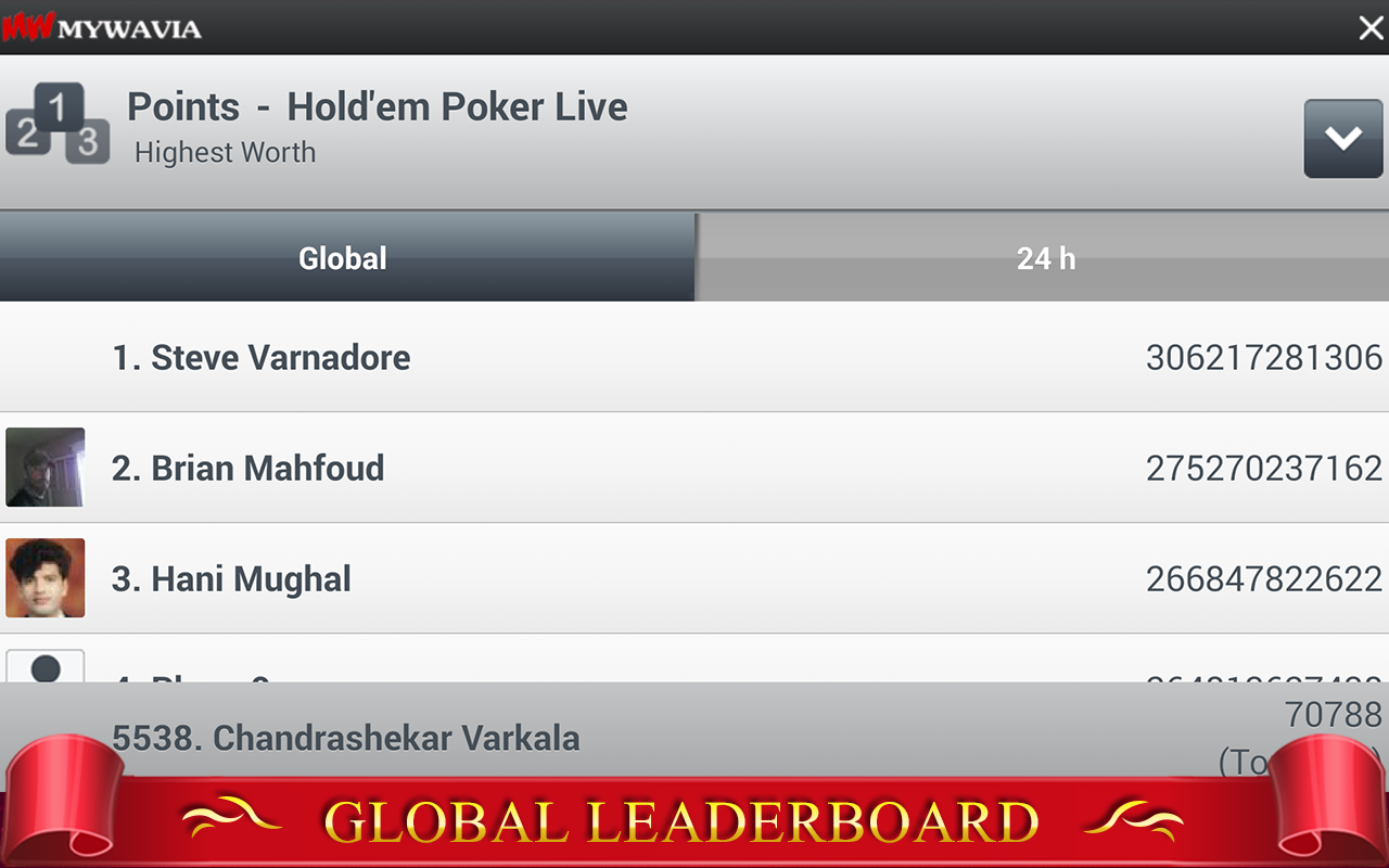 Texas HoldEm Poker LIVE ♠ Free - screenshot