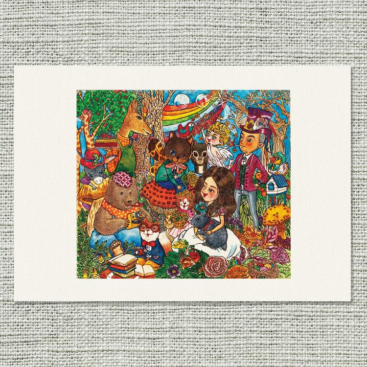 A3 Canvas Print【Tea Party】 by Jeovine