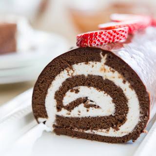 Chocolate Swiss Roll Cake.