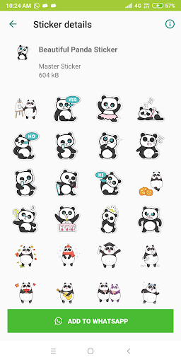 Cute Panda Sticker Pack - WAStickerApps New 1.0-release-first screenshots 2