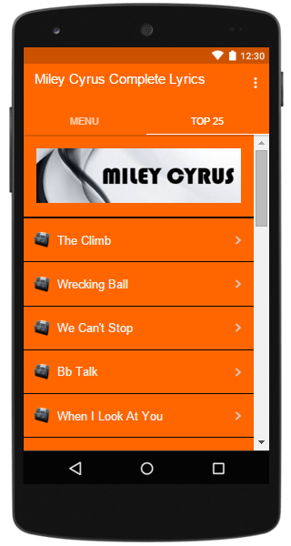 Miley Cyrus Complete Lyrics - Android Apps on Google Play