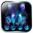 Ice Wolf Neon Launcher Theme 2018 APK