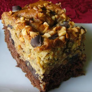 Double Layer Chocolate Banana Bars