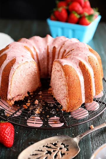 Strawberry Jam Pound Cake