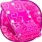 Pink Glow Keyboard Theme