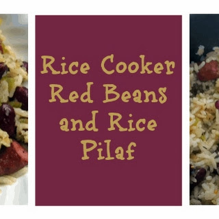 Rice Cooker Cajun Red Beans and Rice Pilaf