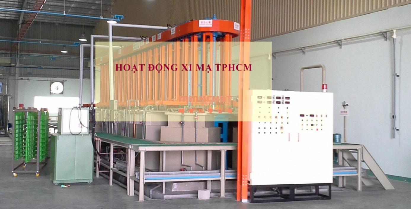 Máy xi mạ hiện đại ở cơ sở xi mạ TPHCM