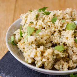Rice Cooker Cilantro Brown Rice Recipe