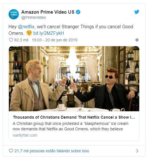 Amazon faz piada sobre o fim de Good Omens