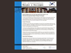 Photo: Referenz Webdesign: Rechts- und Steuerberatungskanzlei Weigel & Kollegen (HTML5/CSS3, WordPress)