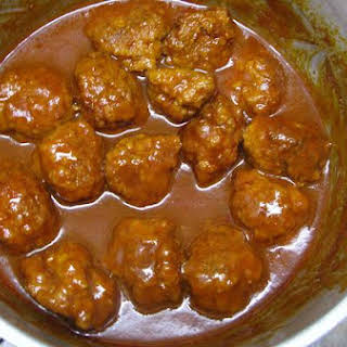 Meat Balls In Gravy.