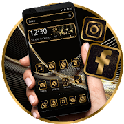 Free Download Business Luxury Black Golden Theme APK for Samsung