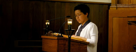Photo: Sr. Amelia proclaims the First Reading during Mass at St. Elizabeth Chapel, Bensalem, PA. Sr. Amelia is Vocation Director.