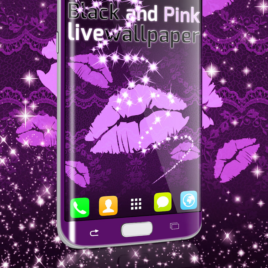 black and pink live wallpaper android apps on google play