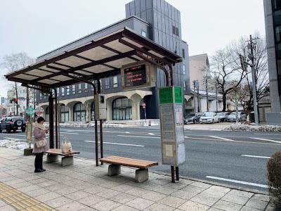 中央通一丁目バス停(右まわり)