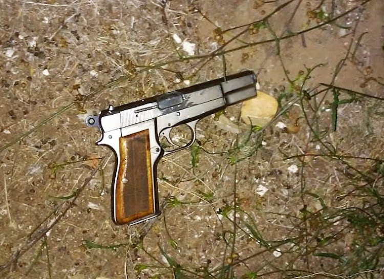 A firearm used in a shoot-out and robbery was recovered by police.