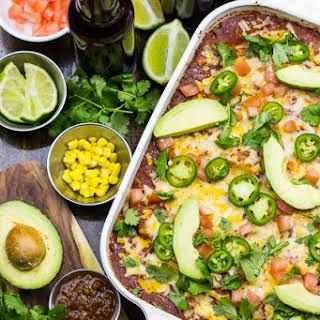 Freezer-Friendly Enchilada Stack Casserole.
