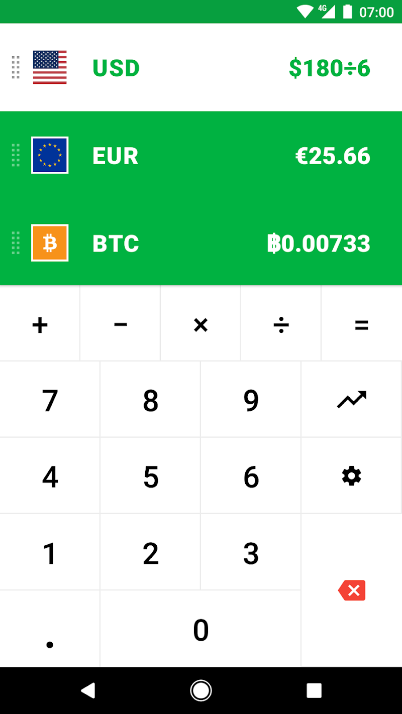 CoinCalc - Currency Converter/Exchange with Crypto Screenshot 1