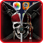 Pirate Lock Screen Zipper HD