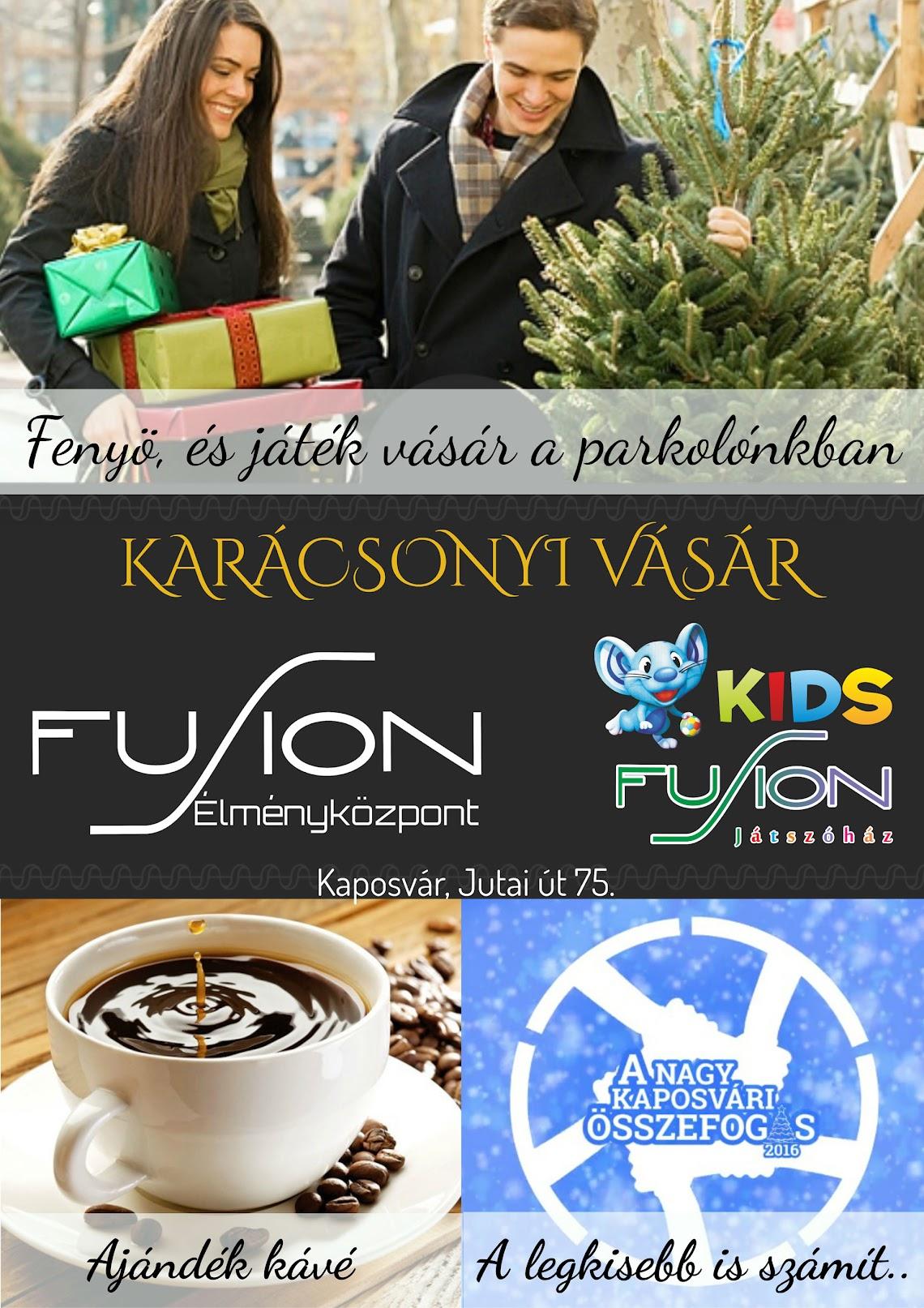 Fenyő és ajándék vásárlás ajándék kávéval - Adománygyűjtés Kaposvár 2016