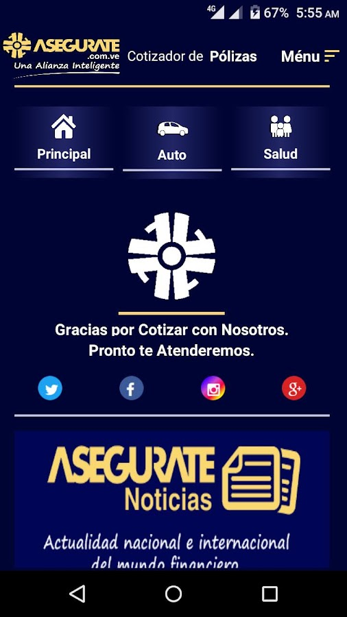 Asegurate Cotizador- screenshot