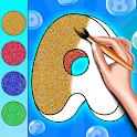 Glitter Letter Coloring Book icon