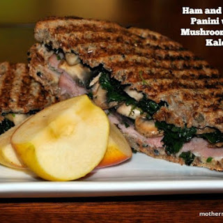 Ham and Swiss Anyone? Ham and Swiss Panini with Mushrooms and Kale