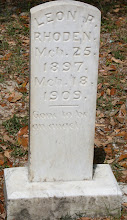 Photo: Leon R Rhoden Child son of Isaac E Rhoden and Rosa Mae Rhoden