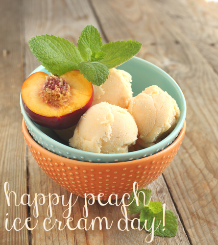 Photo: Happy Peach Ice Cream Day!  Treat yourself to a sweet scoop; we're giving you something tasty on our Facebook today: on.fb.me/1mjO7wU