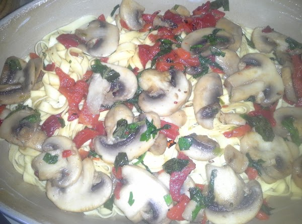 In skillet, sautee mushrooms in 2 TB butter (use oil if you are concerned...