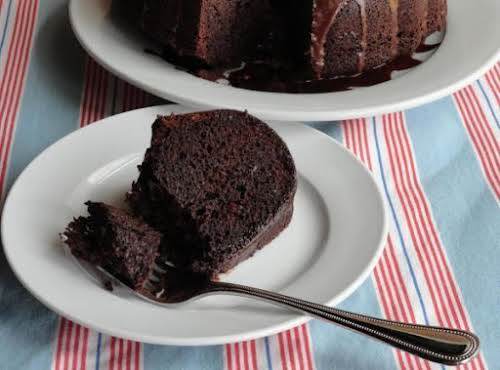 "Fudge Brownie Cake ""This cake surely satisfies that chocolate craving! I have..."