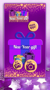 New Year Gift Stickers - náhled