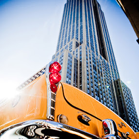 by Tanya Malott - Buildings & Architecture Other Exteriors ( taxi, empire state building, architecture, nyc )