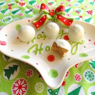Snowballs (White chocolate cookie butter balls)