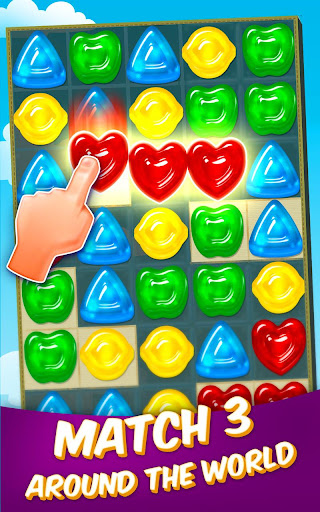 Gummy Drop! – Free Match 3 Puzzle Game screenshot 1
