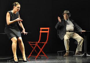 Photo: WIEN/ Kammerspiele: CHUZPE von Lily Brett. Premiere am 22.11.2012. Inszenierung: Dieter Berner. Mit Sandra Cervik, Otto Schenk. Foto: Barbara Zeininger.