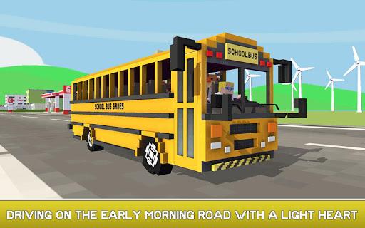 Mr. Blocky School Bus Driver: American Highschool 1.1 screenshots 1