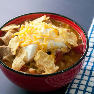 Easy Slow Cooker White Chicken Chili.