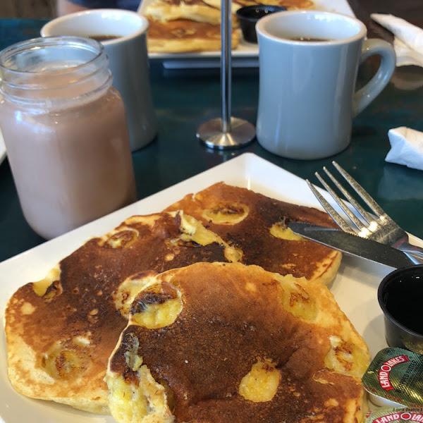 Banana pancakes. Taste: 4/5