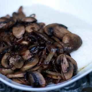 Coconut Milk Sadza and Sauteed Mushroom and Onions