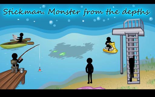 Stickman Monster from the Deep