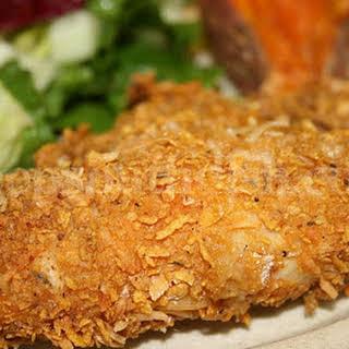 Crispy Oven Fried Buttermilk Chicken.