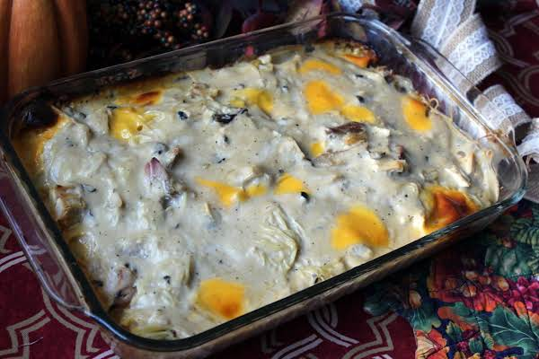 Angel Hair Turkey Casserole