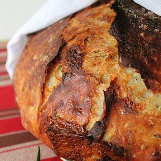 Fresh Rosemary, cracked peppercorn, and Stilton bread