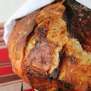 Fresh Rosemary, cracked peppercorn, and Stilton bread.