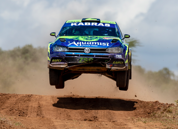 Onkar Rai clears a jump on his way to qualifying stage victory at Lodia.