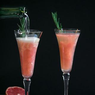 Grapefruit Mimosas with Rosemary