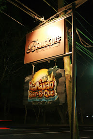 Signage of The Boutique and Hawaiian Barbecue Restaurant along Aguinaldo Highway