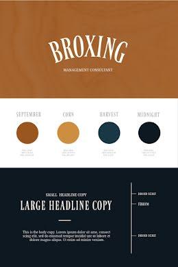 Broxing Brand Board - Pinterest Pin item