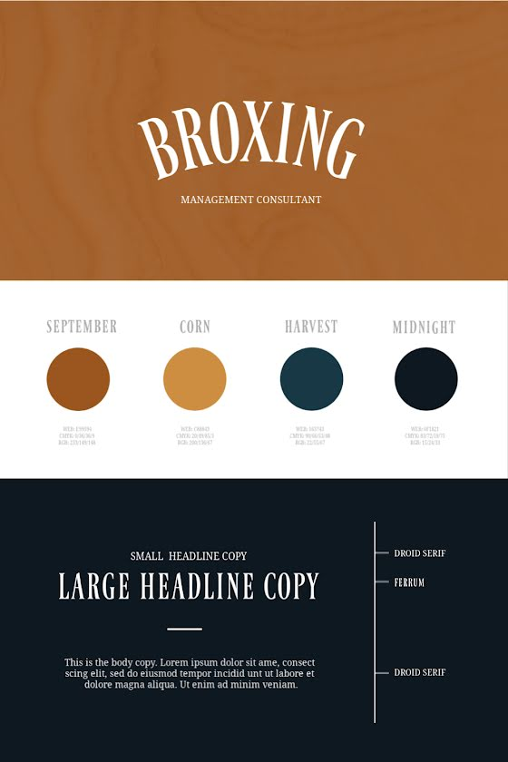 Broxing Brand Board - Brand Board Template